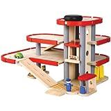 PlanToys - PT6227 - Jouet en bois - Le parking - garage avec ascenseur, Plan City