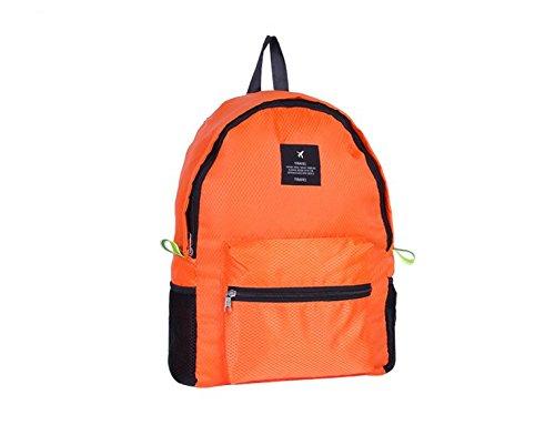 Kotiger sport all' aperto zaino pieghevole tracolla zaino da escursionismo e campeggio Storage pacchetto, Navy Orange