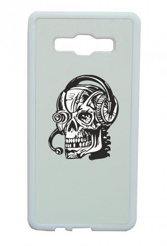 Smartphone Case teschio con auricolare e fotocamera occhio Giochi Gameing Gothic Biker Skull Emo Old School per Apple Iphone 4/4S, 5/5S, 5C, 6/6S, 7& Samsung Galaxy S4, S5, S6, S6Ed