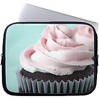 Electronics-Borsa per portatile in Neoprene, maniche 160429-9 Chocolate Cupcakes Pink