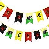 TianLinToy Banderas Juego de Tronos Estilo Banner Casa Sigil de Pared (3m), Banderas Colgantes por Barra de la decoración del Club salón