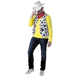 Party Pro-865119-Disfraz de-Juego de Cowboy Solitaire, talla M/L