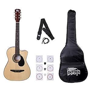Intern INT-38C Acoustic Guitar Kit, Natural
