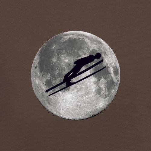 Ski Jump Moon - Herren T-Shirt - 13 Farben Schokobraun