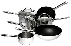 Meyer Professional Stainless Steel Cookware Set , 6-Piece  - Silver