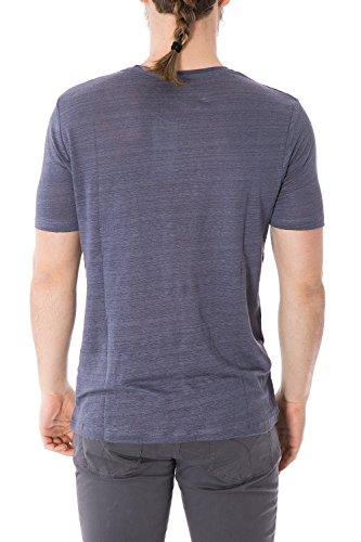 JACK JONES - T-shirt uomo slim fit dave tee crew neck Blu chiaro