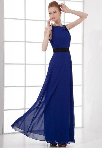 Lemandy - Robe - Sans Manche - Femme bleu bleu noir foncé