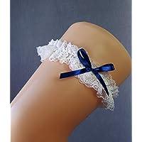 Giarrettiera di pizzo nozze matrimonio sposa biancheria intima regali de nozze addio al nubilato bianco blu