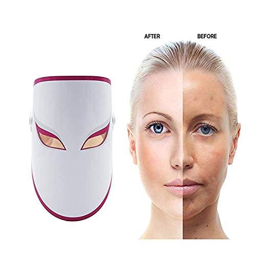AAAPLKI LED Maske Lichtbehandlung 3 Farben Schönheit Haut Akne Phototherapie Photon Bleaching Rejuvenation Gerät Für Frauen - Phototherapie-gerät