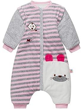 Baby Schlafsack mit Abnehmbare Langarm,mit Beinen,Kinder Schlafsaecke,Winter verdickte