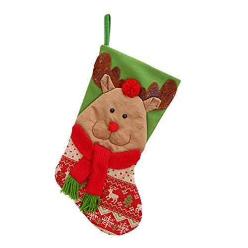 Malloom® 2017 weihnachtsgeschenke Süßigkeiten Perlen Weihnachten Weihnachtsmann Schneemann Socken Dekorationen 22cm * 45cm (C, 22cm * - Ma Halloween 2017