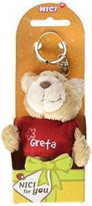 NICI n15810-Llavero Oso con Camiseta Greta, Rojo