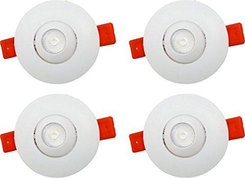 Murphy 2W LED Eyeball SPOT Light (Warm White) - Pack of 4