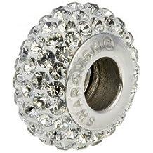 Abalorio charm swarovski original, con certificado de garantía, color blanco. Compatible con todas las marcas de pulseras de abalorio (Pandora, Chamilia,..)