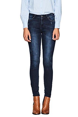 ESPRIT Damen Skinny Jeans 107EE1B013, Blau (Blue Dark Wash 901), W30/L34