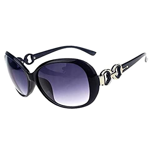 Women Shades Oversized Eyewear Classic Designer Sunglasses Fashion Style UV400-Shining Black&Grey