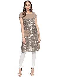 Rangeelo Rajasthan Printed Women's Knee Length Straight Cotton Kurta