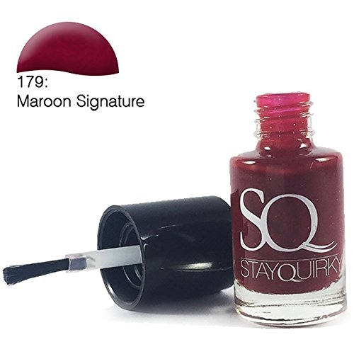 Stay Quirky Nail Polish, Maroon Signature 179, 6ml