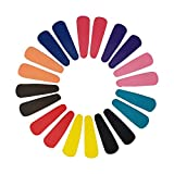 #10: Evogirl Tic Tac Matte Blissful Colors Snap Hair Clips for Kids/Girls/Women (Pack of 20)