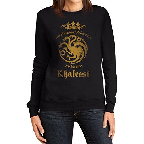 Ich Bin Keine Prinzessin, Ich Bin Eine Khaleesi Frauen Sweatshirt XX-Large Schwarz (Jumper Prinzessin Naht)