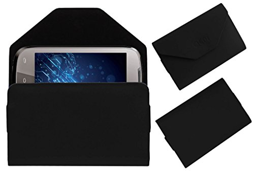 Acm Premium Pouch Case For Lava Xolo A500 Flip Flap Cover Holder Black  available at amazon for Rs.359