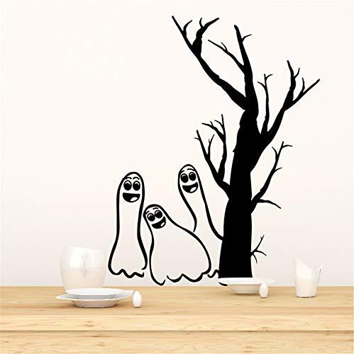 en Wandaufkleber Schwarz Kreative Wanddekoration Phantom Wandaufkleber 43,5 * 42 Cm ()
