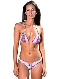 Maillot de Bain Femme Tanga Bikini Brésilien Marron Orange Résille Bleu - Bounty En Ligne À Vendre Coût Prix Pas Cher qpsy0XMmN3
