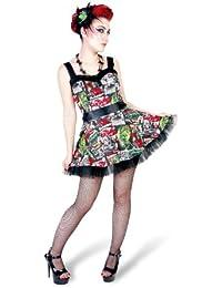 Hell Bunny - vestido muy corto rockabilly - rock and roll