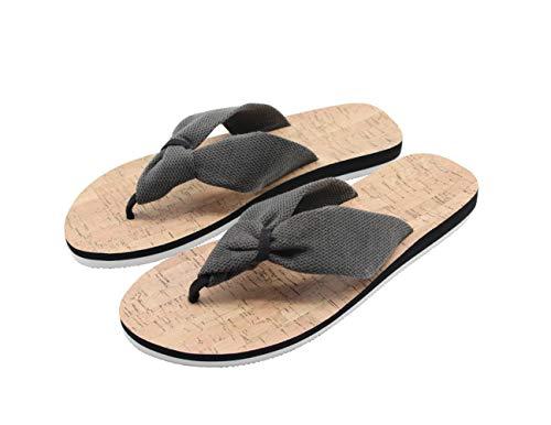 Jungen-bedruckte Flip-flops (FRALOSHA Damen Flip Flop Sommer Schuhe Outdoor Strand Zehentrenner Mode Beach Sandalen, Schwarz, 39 EU)