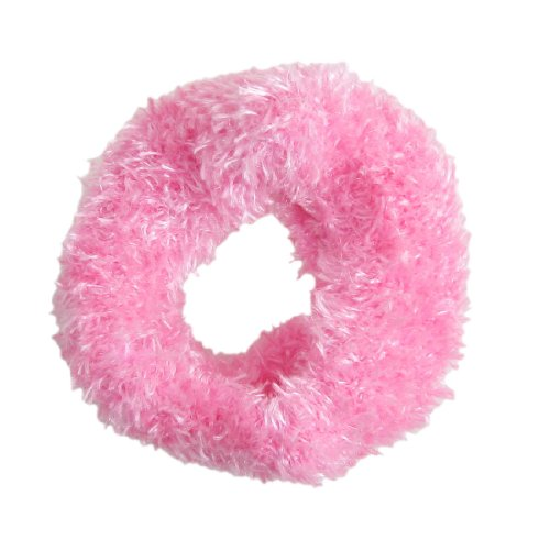 sourcingmap® Pink Plush Stretchy Hair Tie Band Ponytail Holders for Woman
