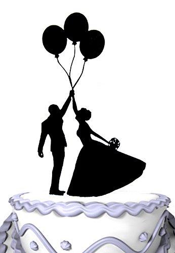 (Mei Jia Fei Wedding Cake Topper Braut und Brautigam zusammen halten Ballon)