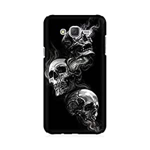 Kmltail Skeleton Smoke on Eyes Pattern Premium Printed Mobile phone back case Cover for Samsung Galaxy J7