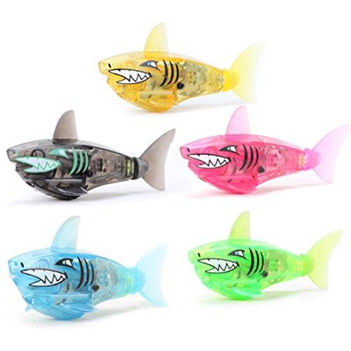 lustige Kinder Schwimmen Hai Roboter Baden Zubehör Fisch Spielzeug (Zufällige Farbe) (Roboter-fisch)