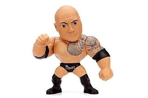 WWE The Rock - Metalfigs 10cm Sammelfigur 97982 detailgetreue Gestaltung, aus hochwertigem Diecast-Metall, verpackt in edler Fensterbox