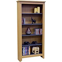 WATSONS MANHATTAN - 343 CD / 175 DVD/Blu-ray/Media Storage Shelves - Beech