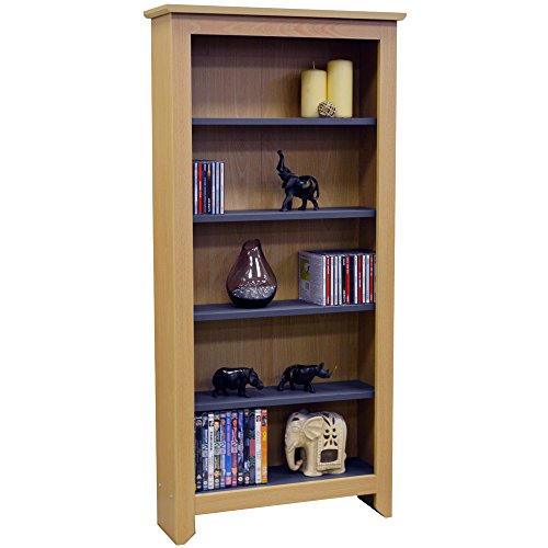 41ucbQfesOL - BEST BUY #1 MANHATTAN - 343 CD / 175 DVD / Blu-ray / Media Storage Shelves - Beech Reviews and price compare uk