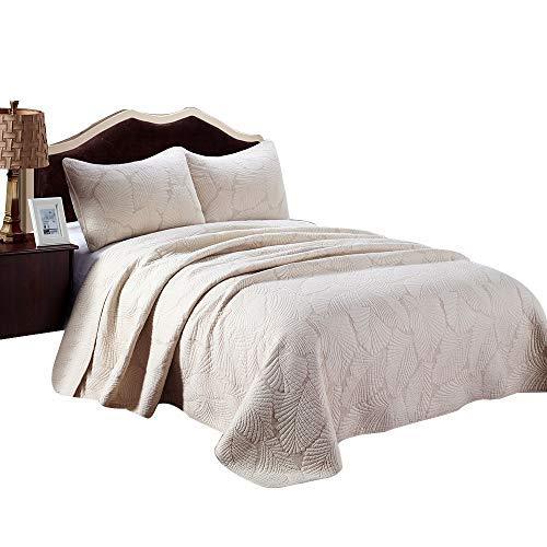 Palm Leaf Patchwork Baumwolle Tagesdecke Quilt Sets Passform Queen King Bett -