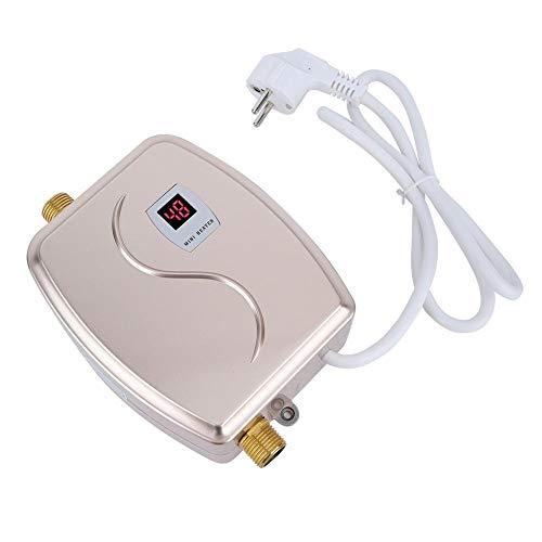 Durchlauferhitzer, 220V 3800W Mini-Durchlauferhitzer Elektro-Durchlauferhitzer mit konstanter Temperatur und LCD-Anzeige für Küche, Bad, Dusche(EU Golden) - 220 Elektro-durchlauferhitzer