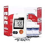 Misuratore di Glucosio nel Sangue, Kit Glucometro con Strisce Reattive E Lancette 50/100 Pz per Misuratore di Diabete Diabetici Zucchero nel Sangue Mmol/L,100