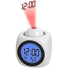 Ashdown Kids Reloj silencioso de cuarzo analógico Twin Bell Silencioso escritorio reloj despertador de viaje con luz nocturna