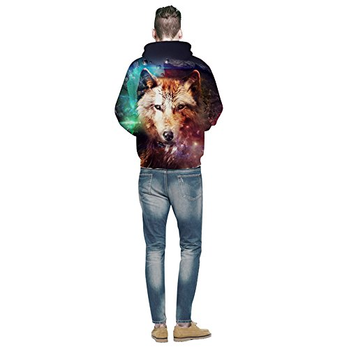 Hommes Femmes Hoodies&3d Loup Imprimer Sweat Hip Hop Harajuku Survêtements Sweats Tops Automne pull à capuche Outwears Wolf