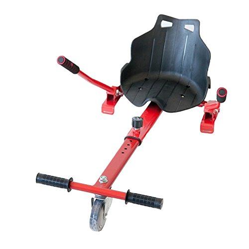 HIBOY - Sitzscooter Gokart Sitz für Elektrokart Self Balancing Scooter Kompatibel mit allen 6,5, 8 und 10 Zoll - Rot