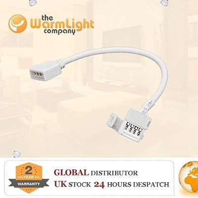 TWLC PCB 4 Pin Connector für 5050 RGB-LED-Streifen (weiß) von The Warm Light Company auf Lampenhans.de