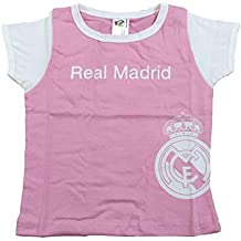 Camiseta Real Madrid Niñas - Rosa - Escudo Real Madrid Blanco -  Personalizable Nombre 3079dff49fa17