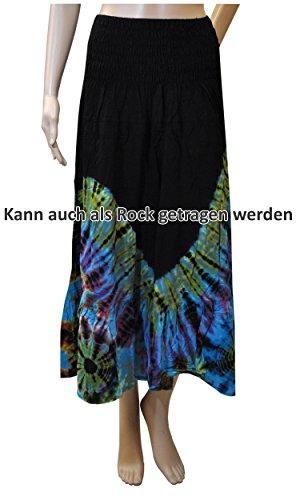 Damenmode Sommerset bequem luftig leicht weites Shirt Top Rock Kleid Haremshose 42463 + 42461 - Top+Rock