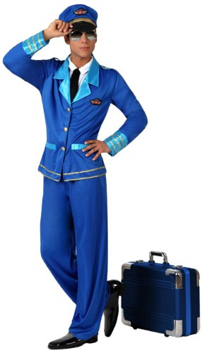Atosa - 15790 - Costume - Déguisement De Pilote - Adulte - Taille 2