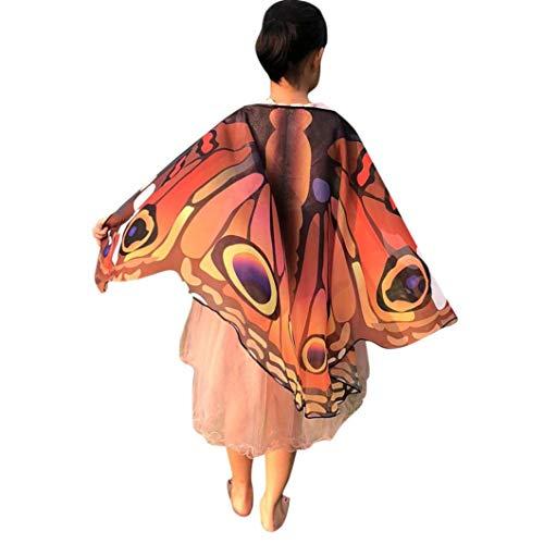 (LOLIAN Kinder Schmetterling Print Flügel Schal Kostüm Zubehör Kinder Regenmantel Poncho Umhang Stil Kinder Baby Cape Studenten Tragbare Cartoon Regenjacken Regenbekleidung)