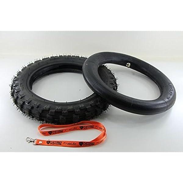 Nitro Motors Reifen Mit Schlauch Für Bikes 2 50x10 Tyre Pocket Dirt Bike Quad Gratis Schlüsselanhänger Lanyard Auto