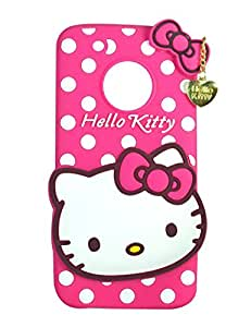 Cantra Hello Kitty Back Cover For Motorola Moto G5 Plus - Pink