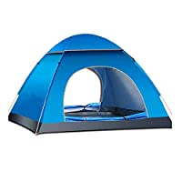 Pop Up Tent Beach Tent, 2-3 Person Camping Tent Camouflage Dome Tent Family Camping Tents Sun Shelter 4 Season Portable Automatic Pop Up Waterproof Tent with Carry Bag for Backpacking Travel